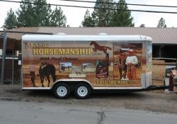 Mane Horsemanship Vehicle Wrap Side View 1