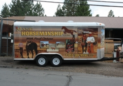 Mane Horsemanship Vehicle Wrap Side View 2