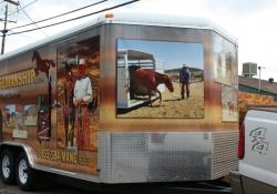Mane Horsemanship Vehicle Wrap Front View