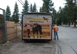 Mane Horsemanship Vehicle Wrap Rear View