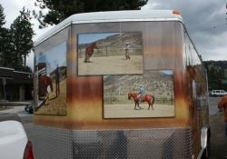 Mane Horsemanship Vehicle Wrap Front View 2
